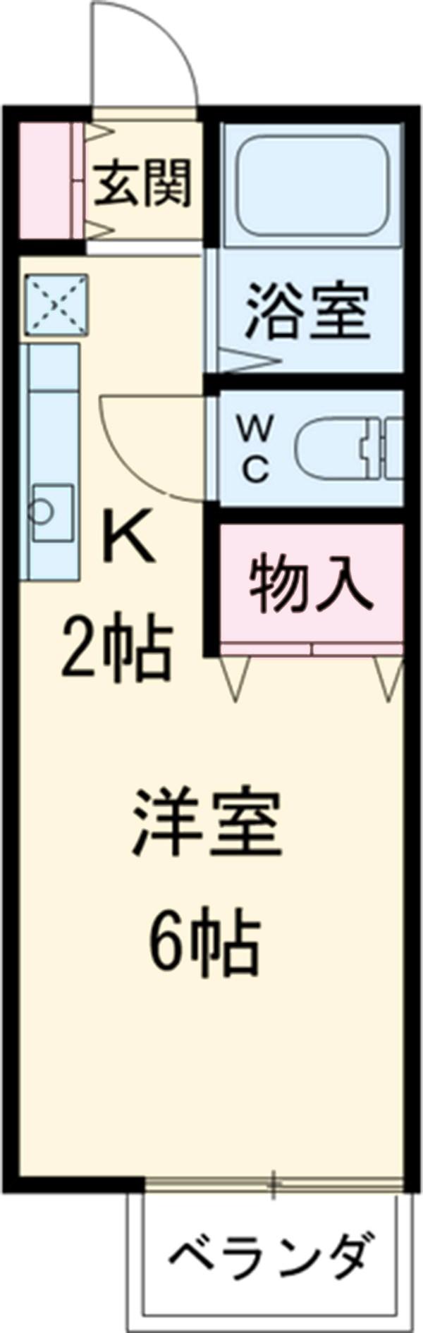 ウェルネス横浜・202号室の間取り