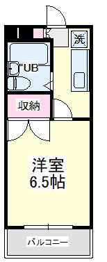 上島ロイドアパートB・101号室の間取り