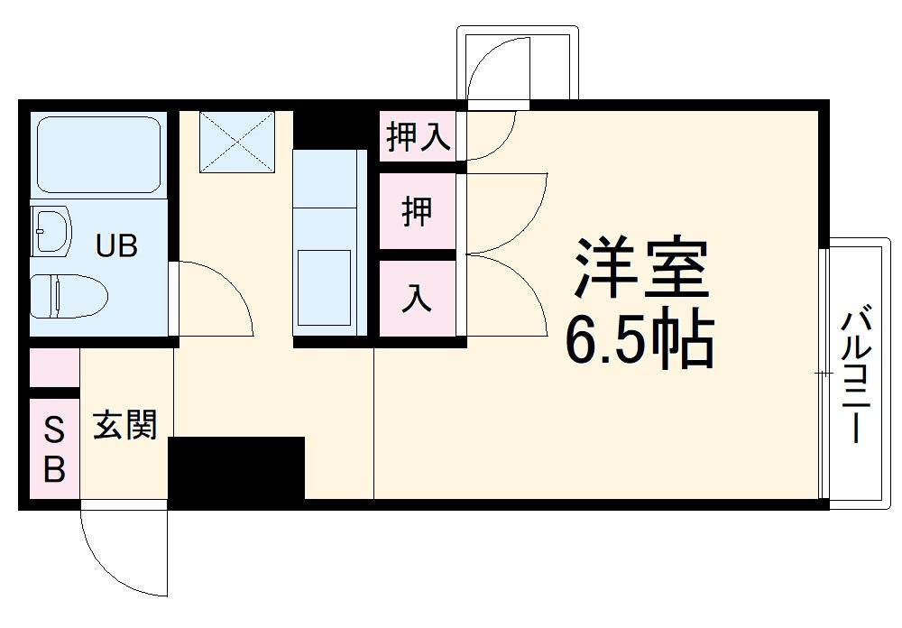 ARECX五井・4Y5号室の間取り