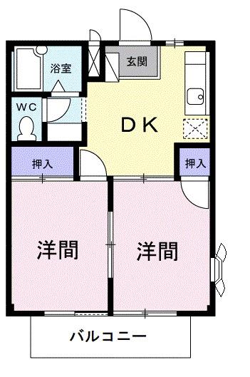 サンシャイン栄・02010号室の間取り
