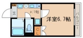 双桜館・8号室の間取り