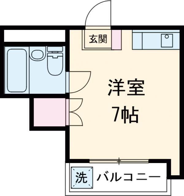 第2岡三ビル・302号室の間取り