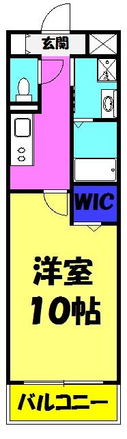 Sankoo Minami・504号室の間取り