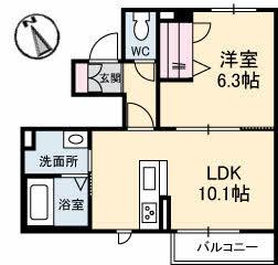 仮)三条町新築・103号室の間取り