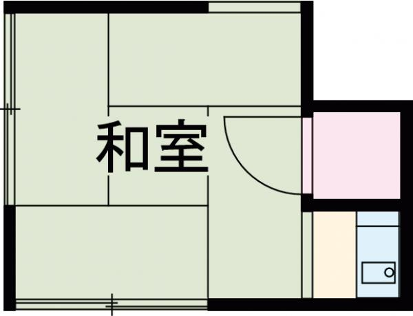 第一高永荘 101号室の間取り
