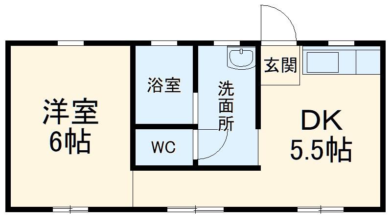 スペースタウン薮塚・103号室の間取り