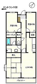 富士見台ハイツ・306号室の間取り