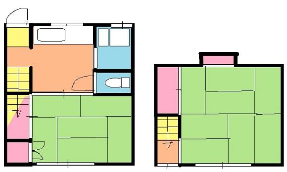 三山アパート・2号室の間取り
