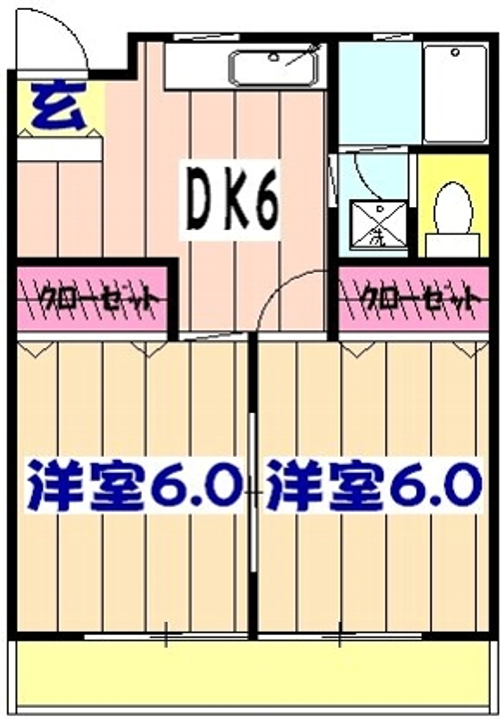藤井マンション・301号室の間取り