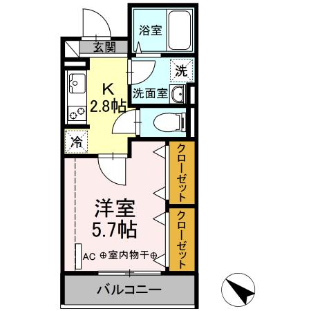 仮)D-room中希望が丘・305号室の間取り