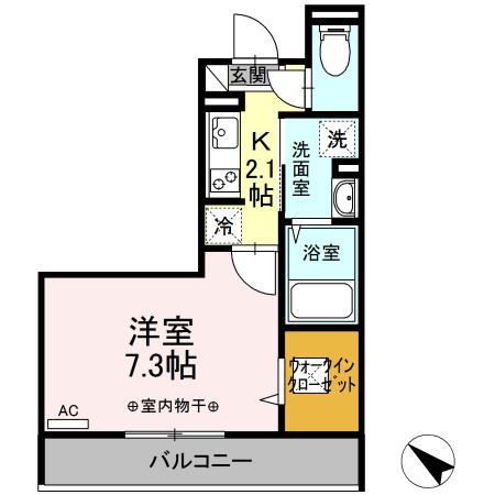 仮)D-room中希望が丘・106号室の間取り