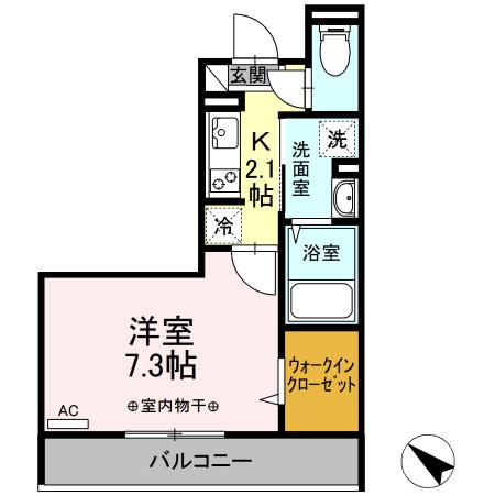 仮)D-room中希望が丘・206号室の間取り