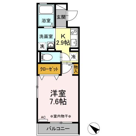 仮)D-room中希望が丘・207号室の間取り