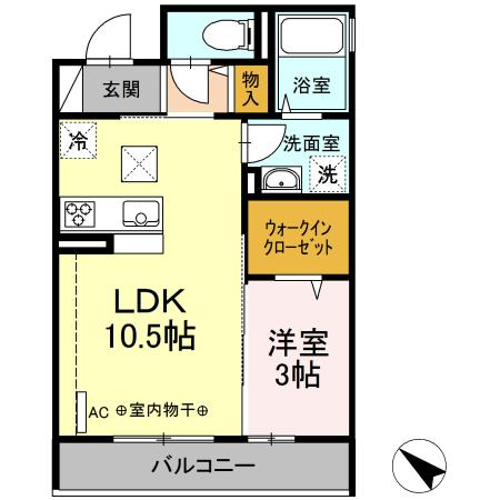 仮)D-room中希望が丘・303号室の間取り