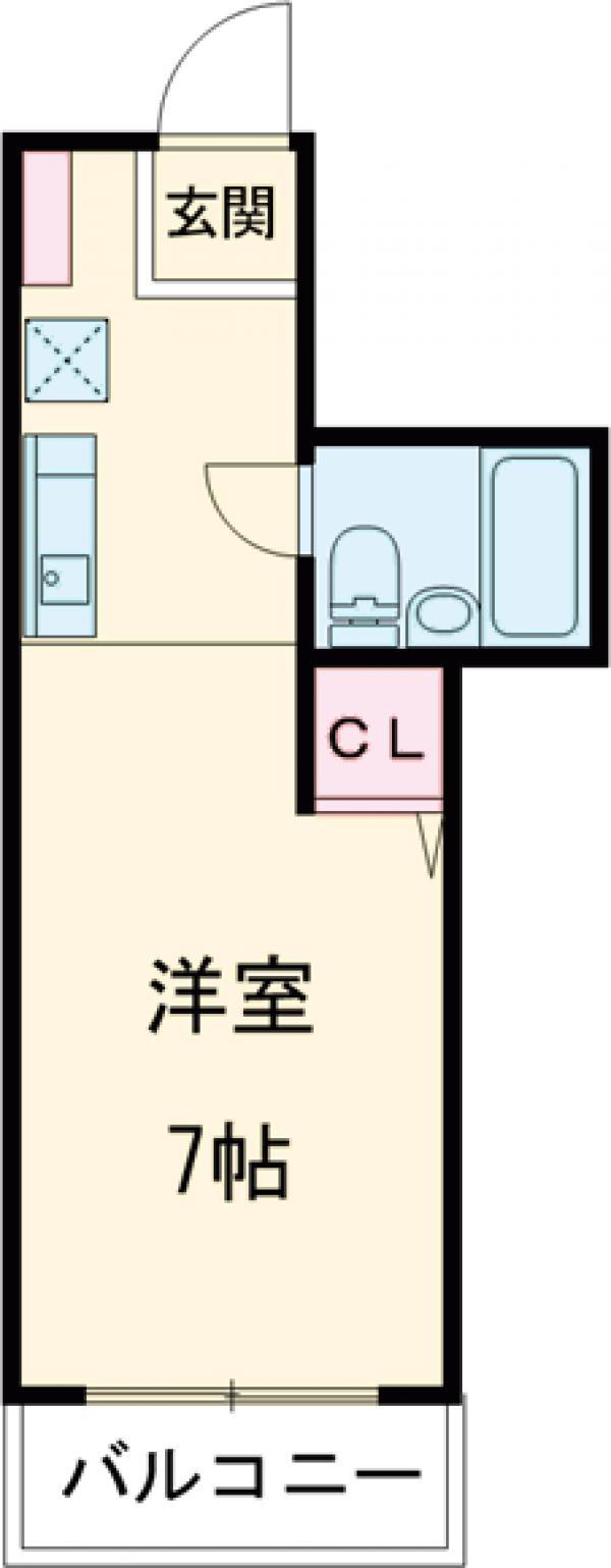 サードスクエア・303号室の間取り