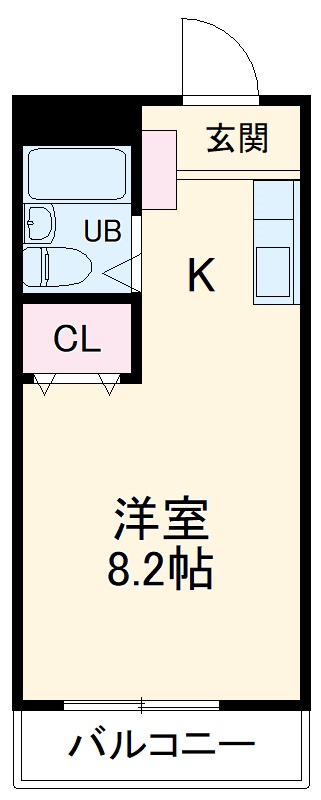 ベイグランデ北栄 415号室の間取り
