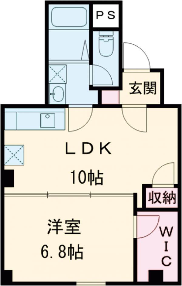 仮称)中町新築ビル・302号室の間取り