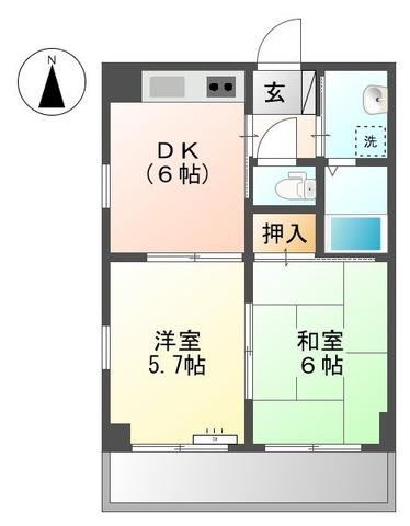 アソルティ横浜保土ヶ谷・301号室の間取り