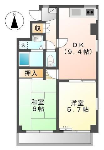 アソルティ横浜保土ヶ谷・503号室の間取り