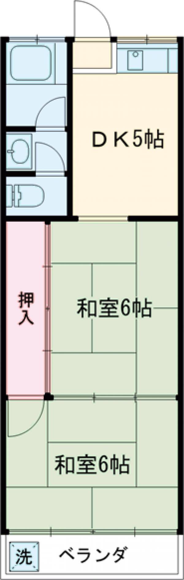 富士見コーポ 205号室の間取り