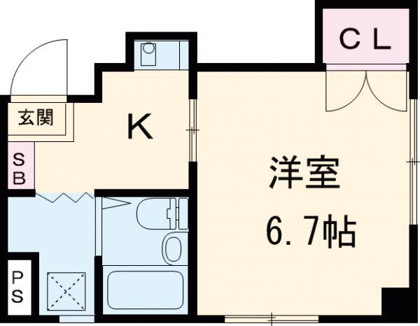 ハイネス青戸 2-B号室の間取り