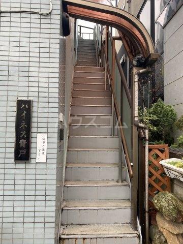 ハイネス青戸 2-B号室のエントランス