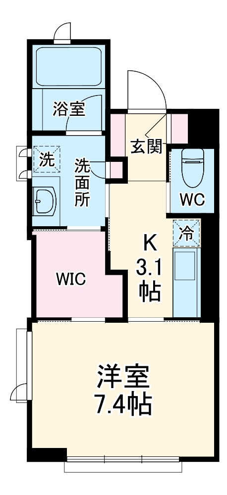 シャーメゾンステージ武蔵浦和 101号室の間取り