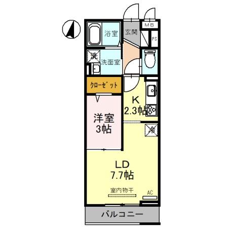 (仮)D-Room吉川保1丁目A 306号室の間取り