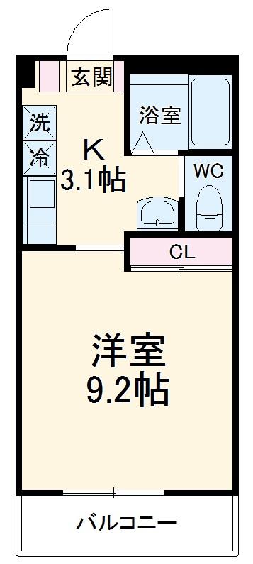 クレセント21・105号室の間取り
