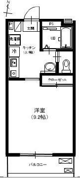 クレセント21・106号室の間取り
