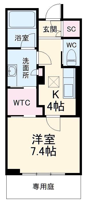 シャーメゾンステージ武蔵浦和 105号室の間取り