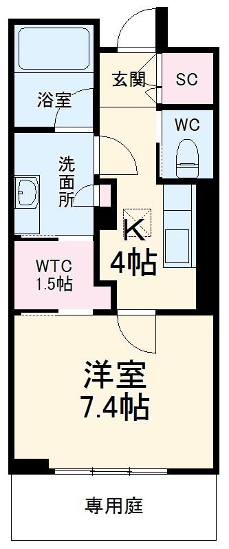 シャーメゾンステージ武蔵浦和 107号室の間取り