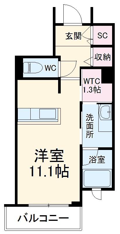 シャーメゾンステージ武蔵浦和 304号室の間取り