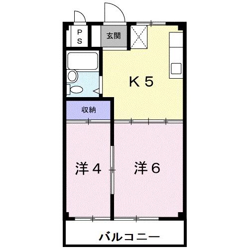 ハイツまきⅡ・02020号室の間取り