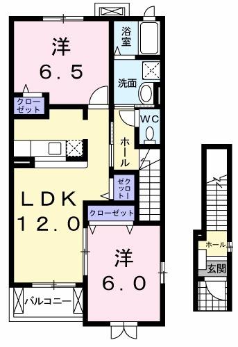マミーハウス C・02030号室の間取り
