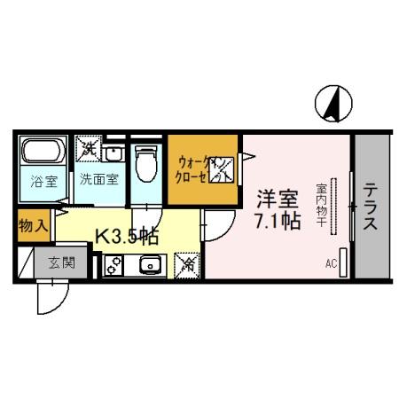 (仮)D-Room吉川保1丁目A 101号室の間取り