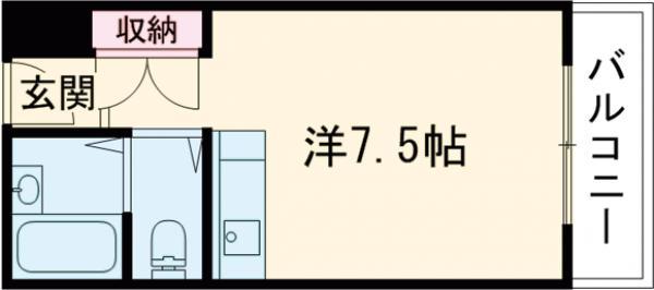 光栄ハイツ古曽部・207号室の間取り