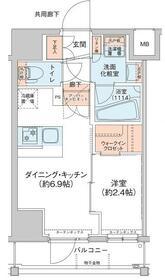 アジールコート新高円寺・204号室の間取り
