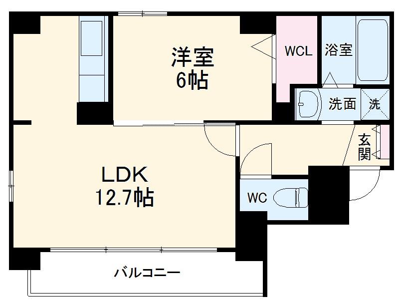 ステージSAWA 701号室の間取り