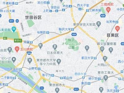 タスキsmart世田谷 101号室の地図