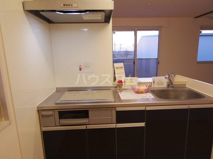 ヴィクトワール常総B 201号室のキッチン