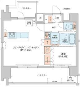 アジールコート新高円寺・501号室の間取り