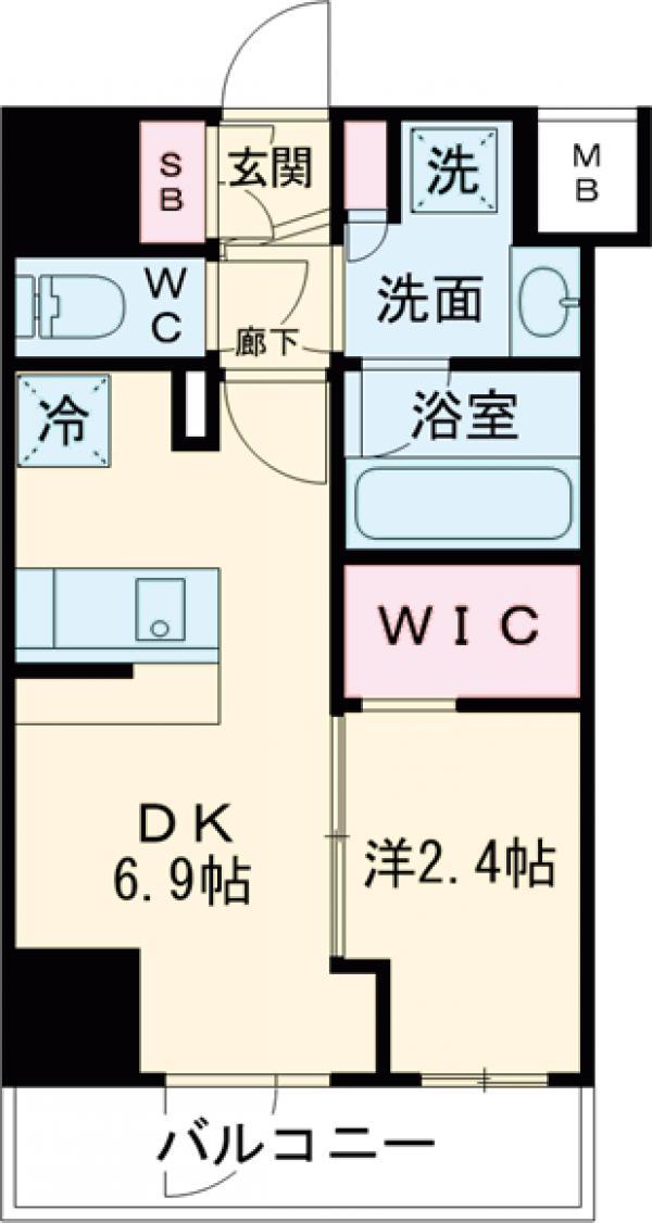 アジールコート新高円寺・506号室の間取り