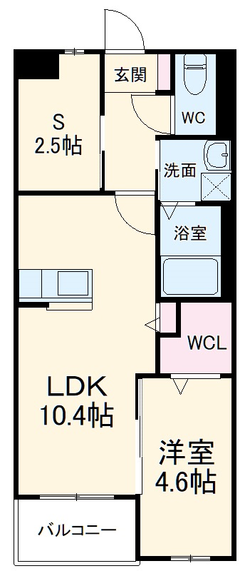 アヴァンセ志免町(仮) 302号室の間取り