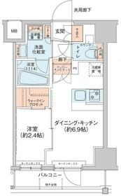 アジールコート新高円寺・605号室の間取り