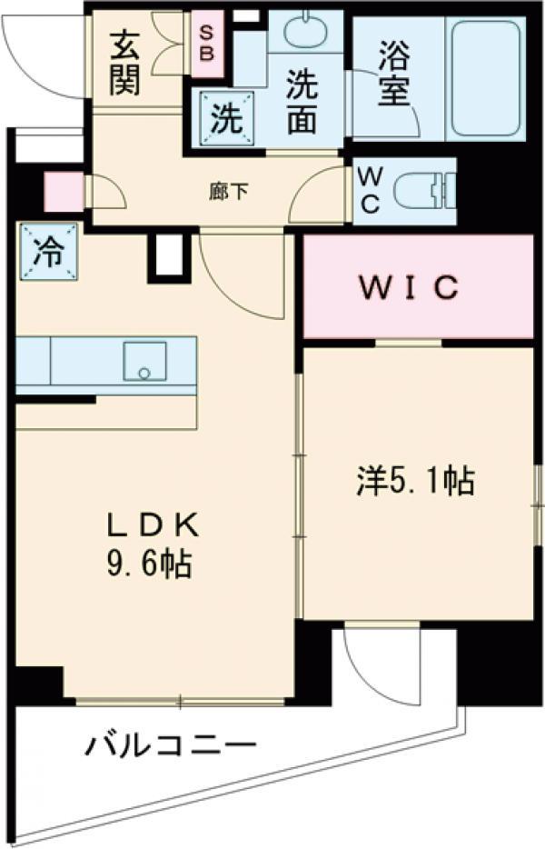 アジールコート新高円寺 607号室の間取り