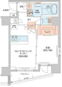 アジールコート新高円寺 707号室の間取り