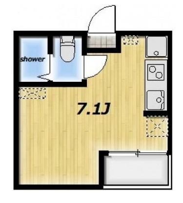 Maison MEDALIA・201号室の間取り