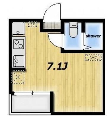 Maison MEDALIA・202号室の間取り