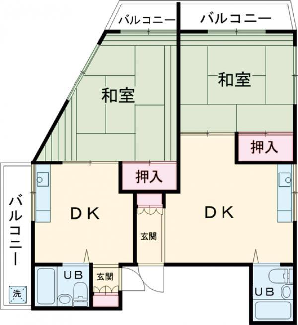 西大井ビル・202号室の間取り